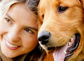 Girl with Golden Retriever - Dog Breeders Cta