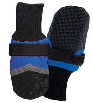 blue boots to keep your dogs feet safe and dry