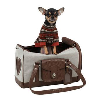 Stylish dog carrier for your pet.