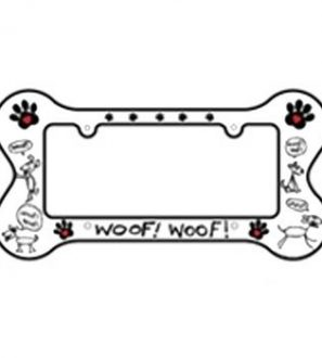 A license plate frame for the dog lover inside you.