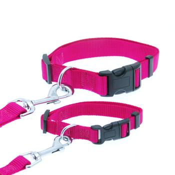 Barking Basics Dog Collar - Dark Pink