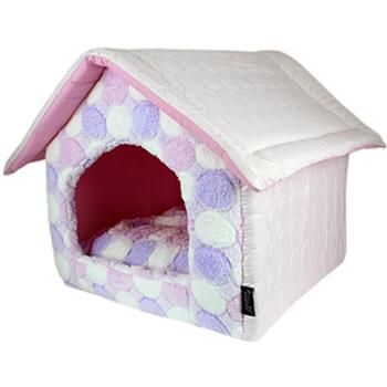 Cotton Candy Dog House - Pink