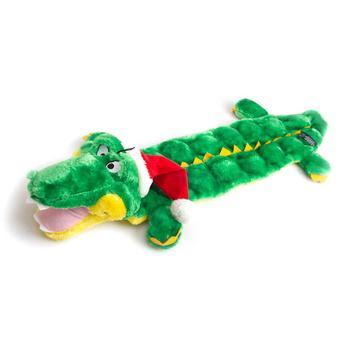 Holiday Gator Dog Toy