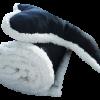 Plush Fleece Dog Blanket & Bone Pillow