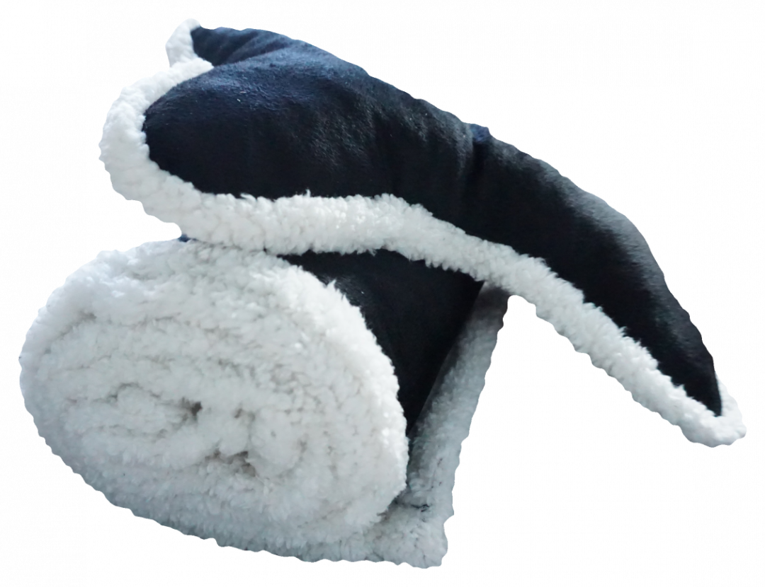 Plush Fleece Dog Blanket & Bone Pillow
