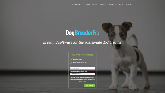 Best dog breeding software for your new dog breeding business.