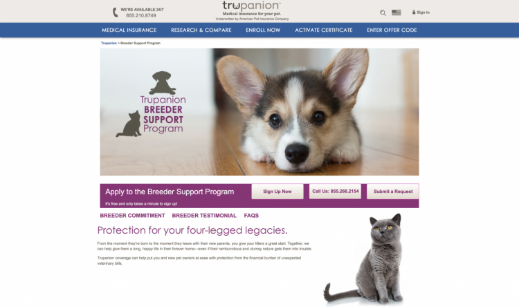 Get the best free insurance for dog breeders through Trupanions Breeder Insurance