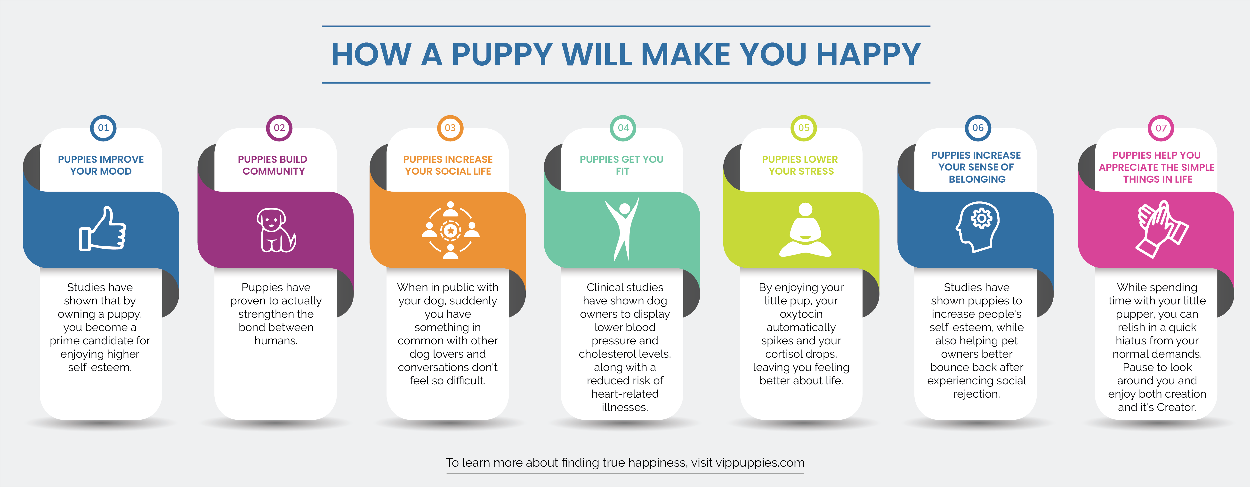 How a puppy will make you happy infographic